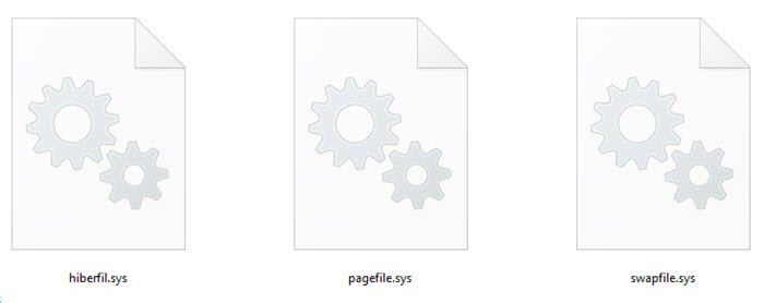 Hiberfil.sys, Pagefile.sys и новый файл Swapfile.sys