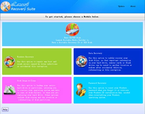 Lazesoft Recovery Suite Free Home Edition для Windows 10/8/7